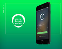 Music Helper Online iOS App Design