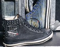 DIESEL sneakers customization, graphics, materials