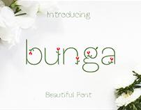 """FREE """"Bunga"""" Font"""