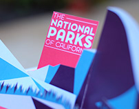 National Parks of California Pop-Up Book