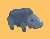 """Almost"" Low Poly Rhino"
