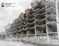 Underground Terrain Construction Identity Design