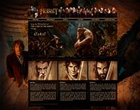 THE HOBBIT - web design