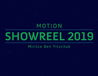 Motion showreel 2019