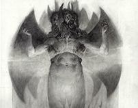 Escolta de demonios y Lucifer. Infierno de Dante