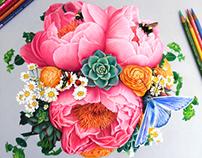 Bug & Flower Study