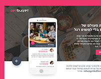 003 - landing page for GetBuffet APP