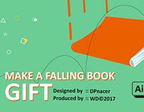 falling book gif