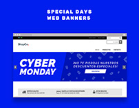 Special days web banners for Tienda Nube customers