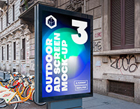 Outdoor Advertising Screen Mock-Ups 15 (v5)