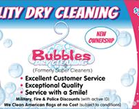 Leaflet Design - Bubbles Dry Cleaing