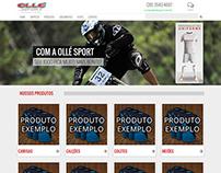 Website Ollé Sport