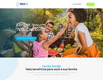 Landing page and Blog MaxBe