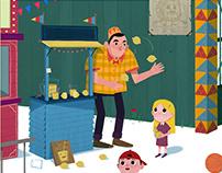 Leyla Lunaparkta // Children books illustration