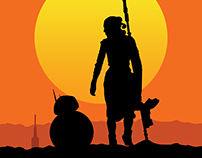 STAR WARS - THE FORCE AWAKENS - SUNSET