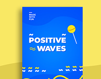 Positive Waves Poster