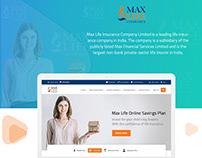 Max Life Insurance Mockup