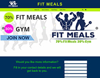 Fit Meals landing page