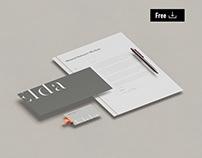 Free Isometric Stationery Mockup