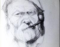 old fishing man