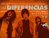 Flyer Las Diferencias en Detroit Club