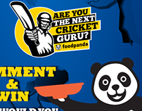 Cricket Guru - foodpanda Online Campaign