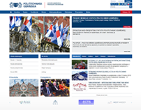 Gdańsk University of Technology main website design