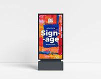Free Advertising Signage Mockup