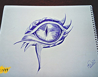 Dragon Eye Ball Pen Art