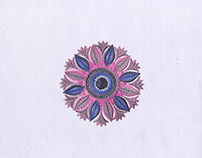 FINELY CRAFTED PASTEL QUILTING EMBROIDERY DESIGN
