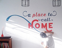 Sign and Hand Lettering Mural for Koplin's Place