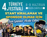 Fransa'da düzenlenen 4. Türkiye Festivali Sosyal Medya
