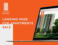 Landing page for sale apartments