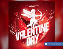 Valentine flyer template - Adobe Photoshop