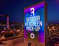 Outdoor Advertising Screen Mock-Ups 14 (v.4)