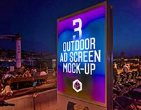 Outdoor Advertising Screen Mock-Ups 14 (v.4)
