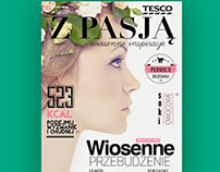 Tesco magazine / cover layout / proposal