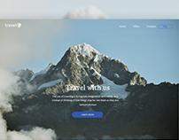 Travelo.Landing page.