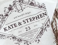 Kate & Stephen Wedding Invitation