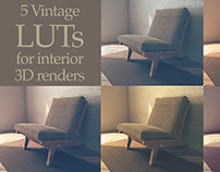 5 Vintage LUTs for your 3D interior Renders