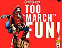 Captain Morgan Gold social art March 2018