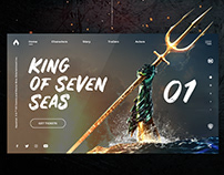 Aquaman - Web Design
