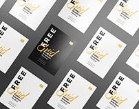 Free letter brochure grid mockup