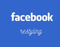 Facebook - restyling (UX - UI)