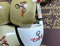 Calligraphy on Ceramics with Sakura Ceramglass..