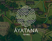 AYATANA Coorg - Resort Map Illustration