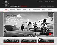 UI for re-design of website for executive car hire.