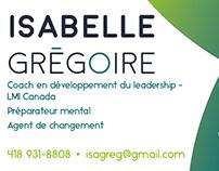 Carte d'affaires | Isabelle Grégoire