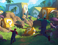 Mario Bros : The Lost World, environment concept