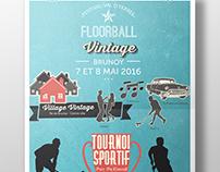 Affiche Floorball Vintage